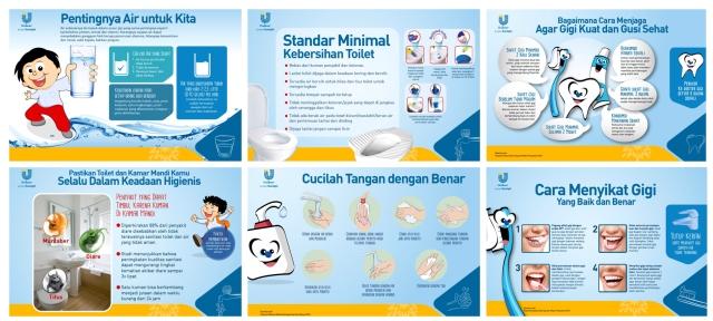 Materi edukasi tentang bagaimana mengajarkan kebiasaan sehat seperti mencuci tangan menurut standar WHO. Bisa ditempel atau diberikan kepada tetangga dan ART sbg info penting.